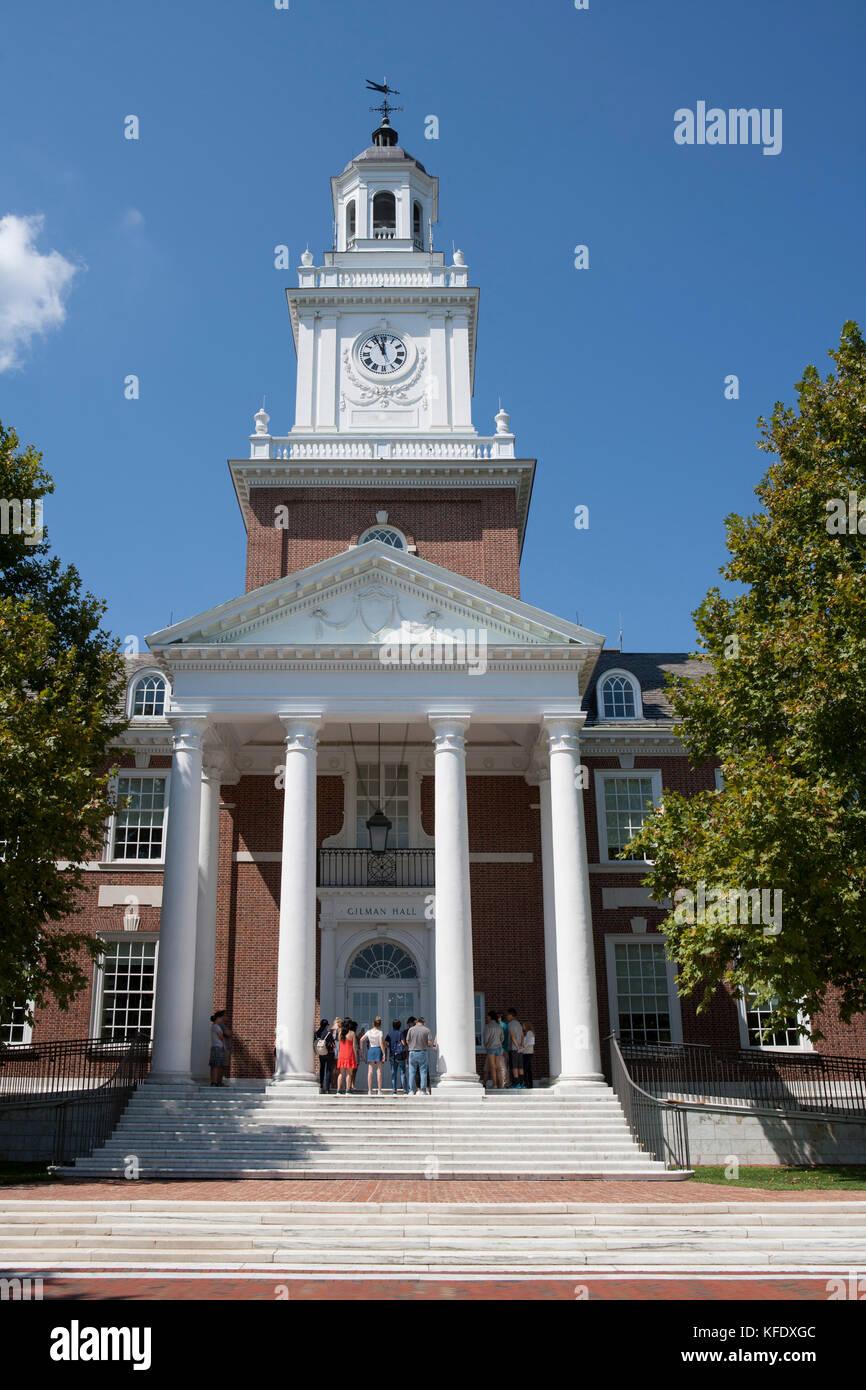 Gilman Hall, Johns Hopkins University, Baltimore, Maryland, USA Stock Photo