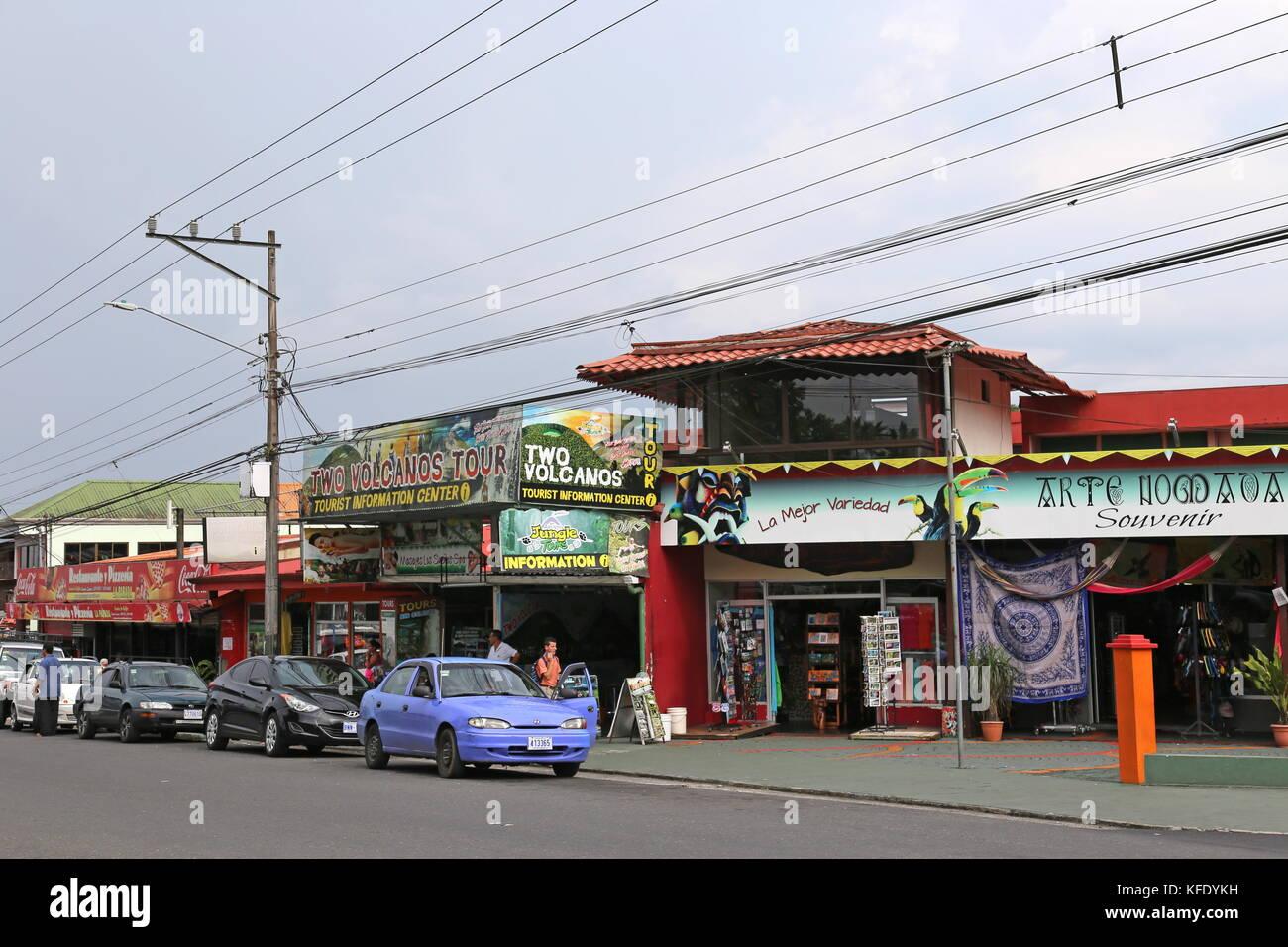 Town centre, La Fortuna, Alajuela province, Costa Rica, Central America - Stock Image