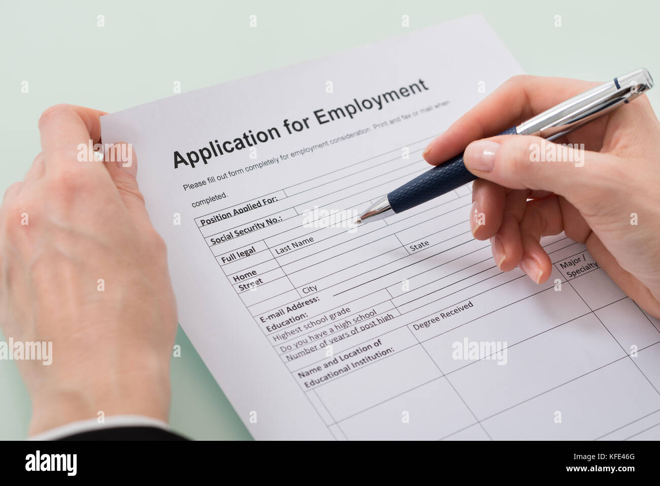 Job Application Form Stock Photos & Job Application Form Stock ... on seasonal jobs, office jobs, typist jobs, part-time jobs, remote jobs, educational jobs, nursing home jobs, networking jobs,