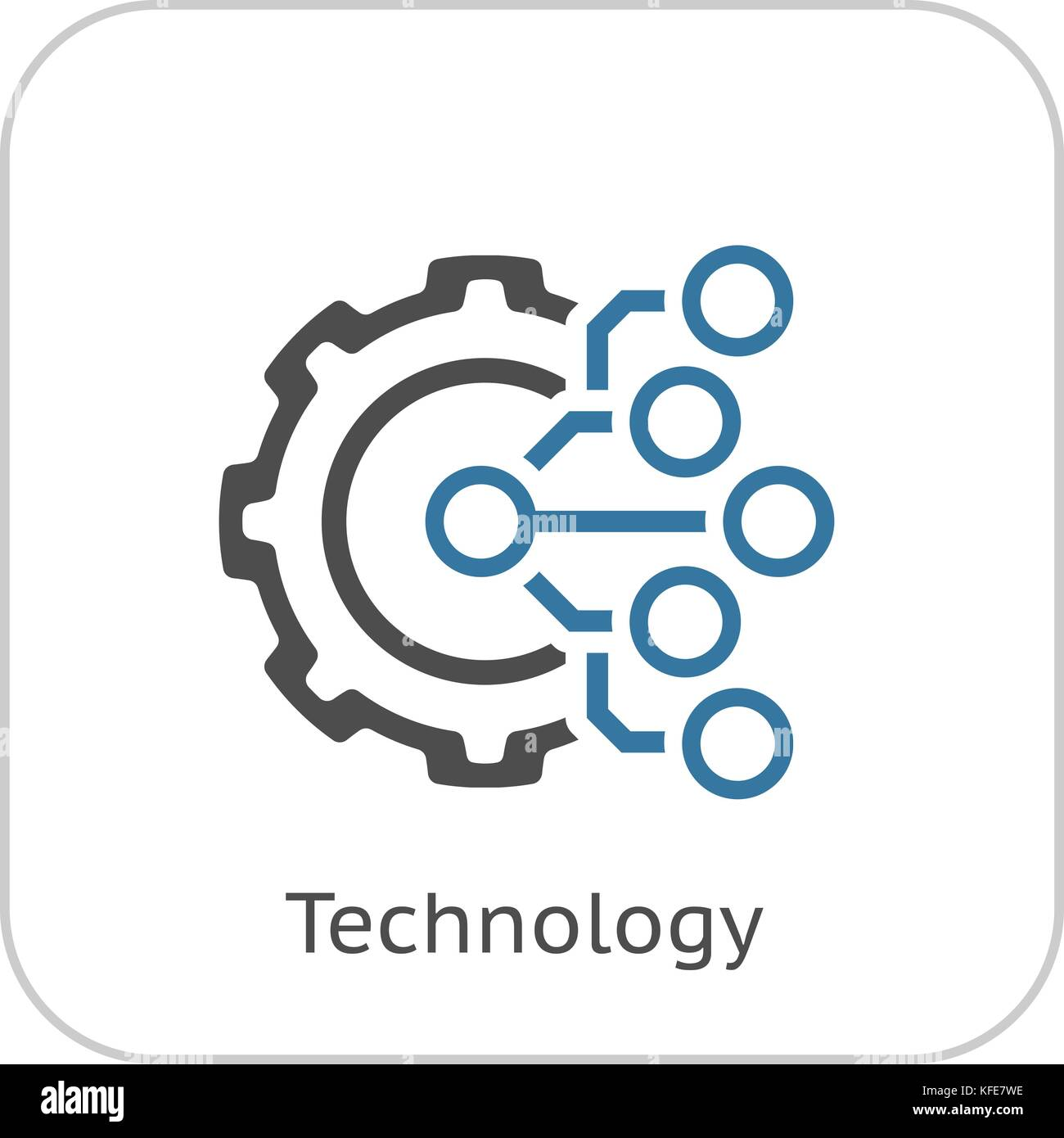 Technology Icon. Gear and Electronic. Digital Factory Symbol Stock ...
