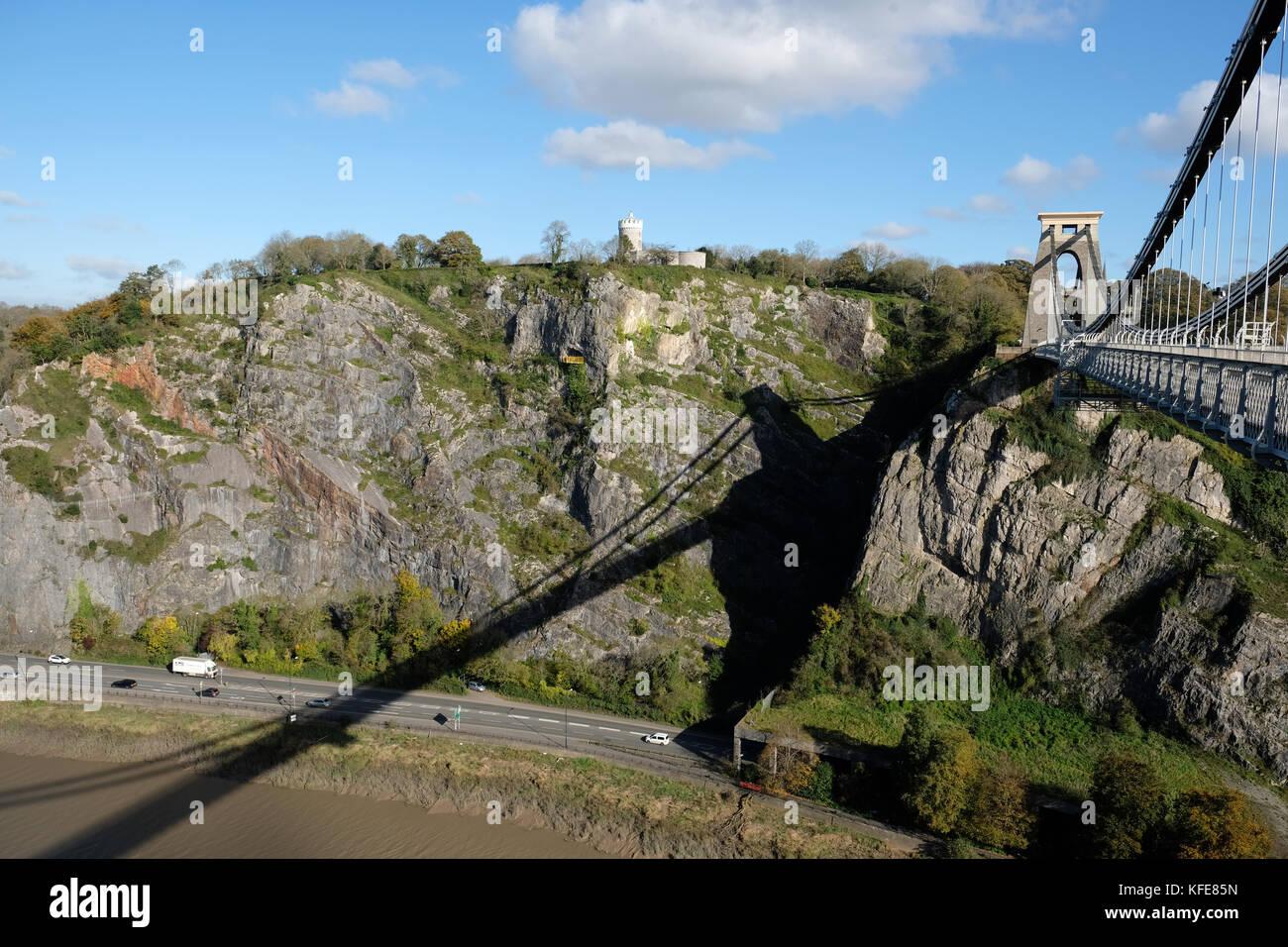 clifton suspension bridge - Stock Image