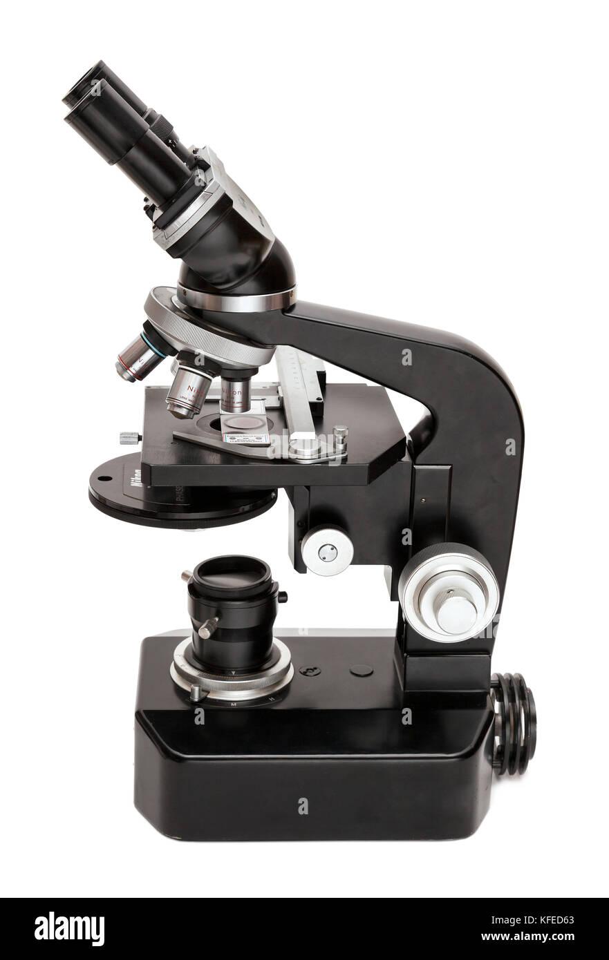 Vintage Nikon S compound microscope, phase contrast