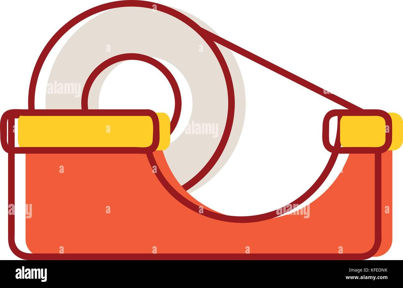 transparent adhesive tape object design - Stock Image
