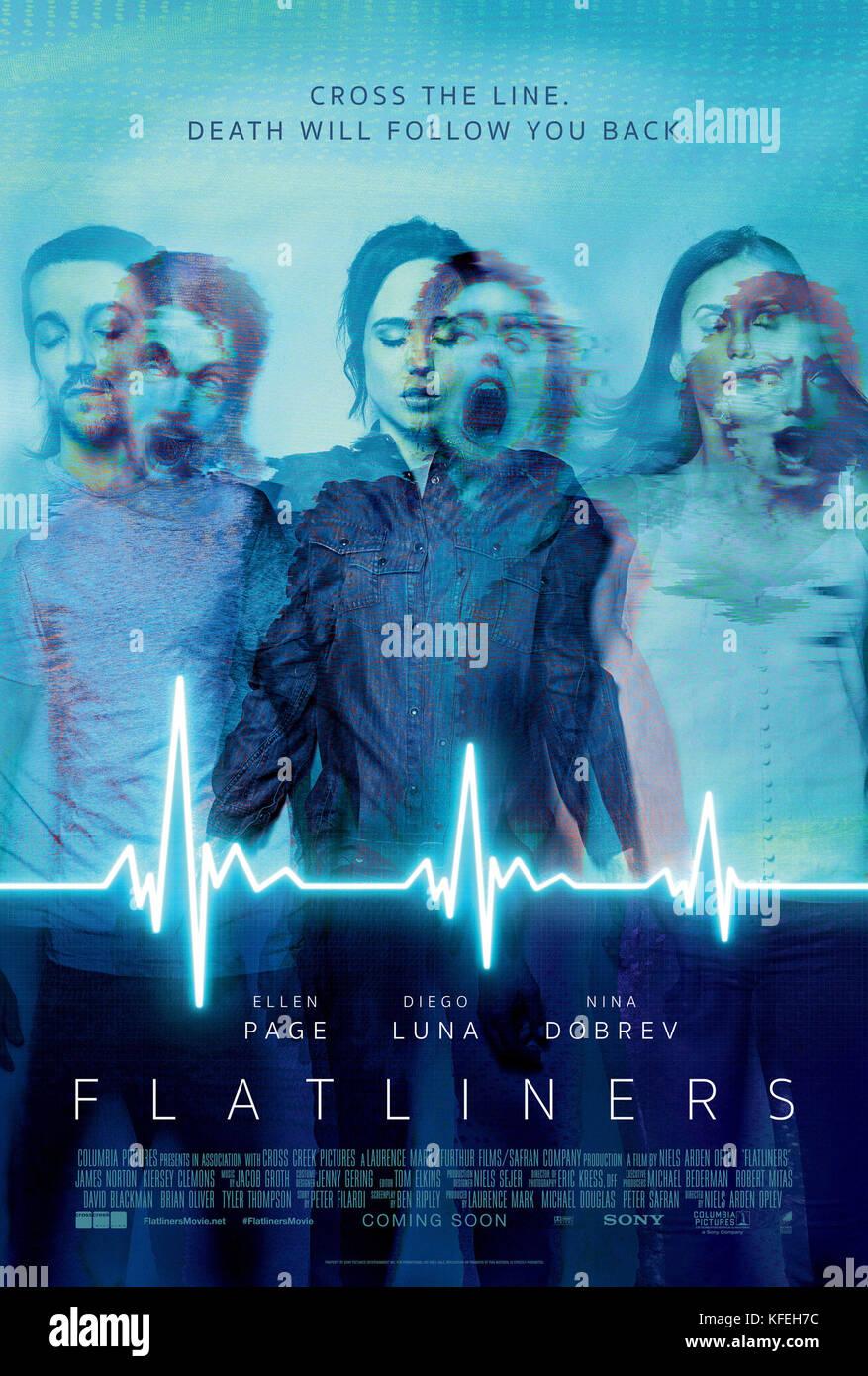 RELEASE DATE: September 29, 2017 TITLE: Flatliners STUDIO: Columbia Pictures. DIRECTOR: Niels Arden Oplev. PLOT: - Stock Image
