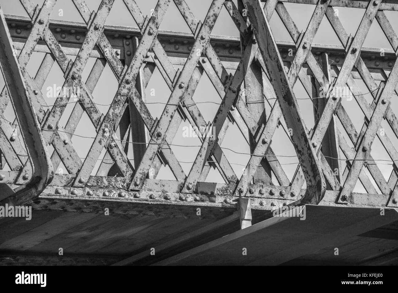 rusting g bridge  Barnsley Ray Boswell - Stock Image