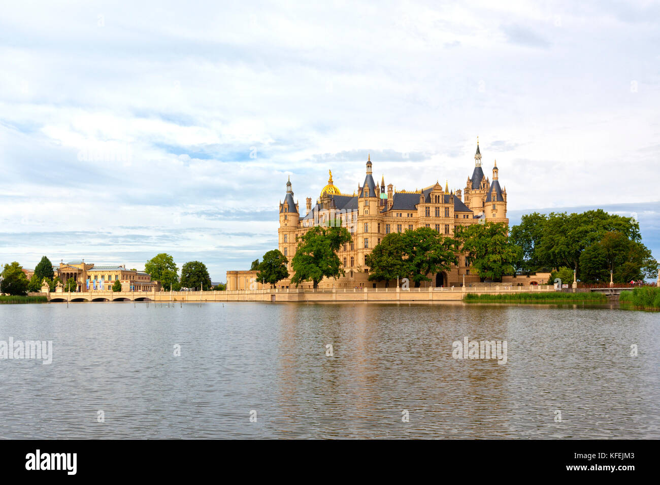 Castle at Schwerin, seat of the parliament of Mecklenburg-West Pomerania - Stock Image
