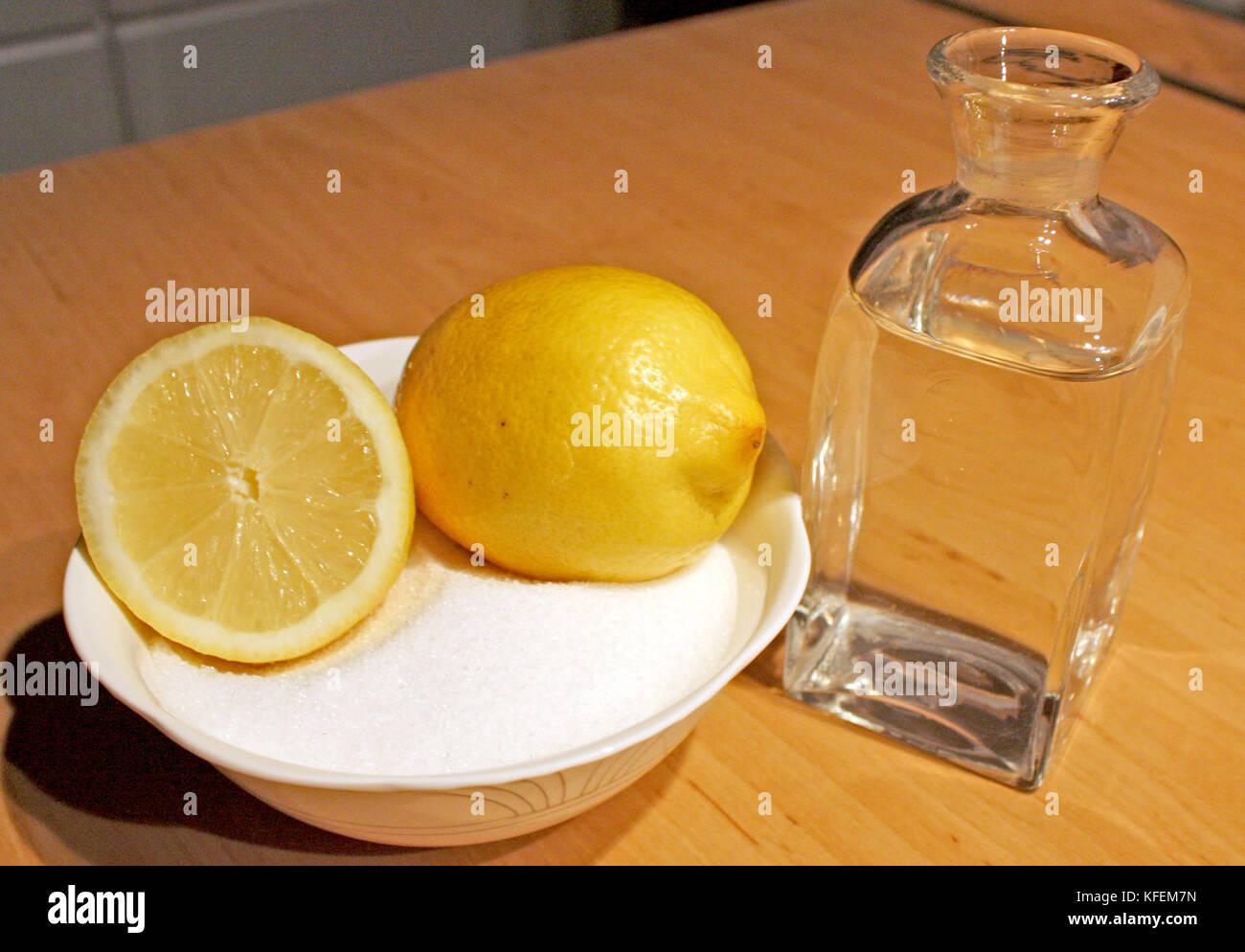 Sugaring Haar Entfernung Mit Zucker Wasser Und Zitrone
