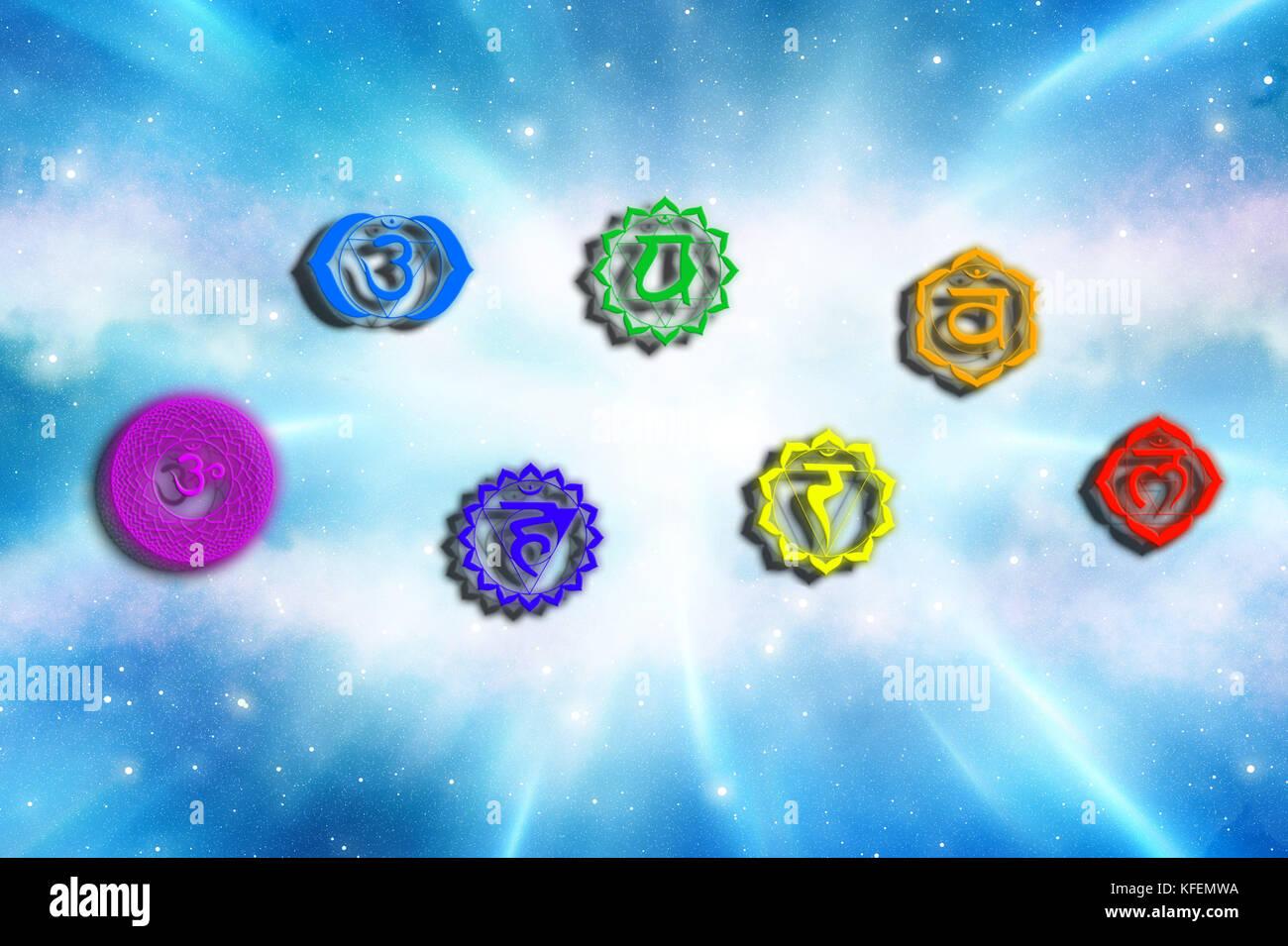 Chakra Symbols Stock Photos & Chakra Symbols Stock Images