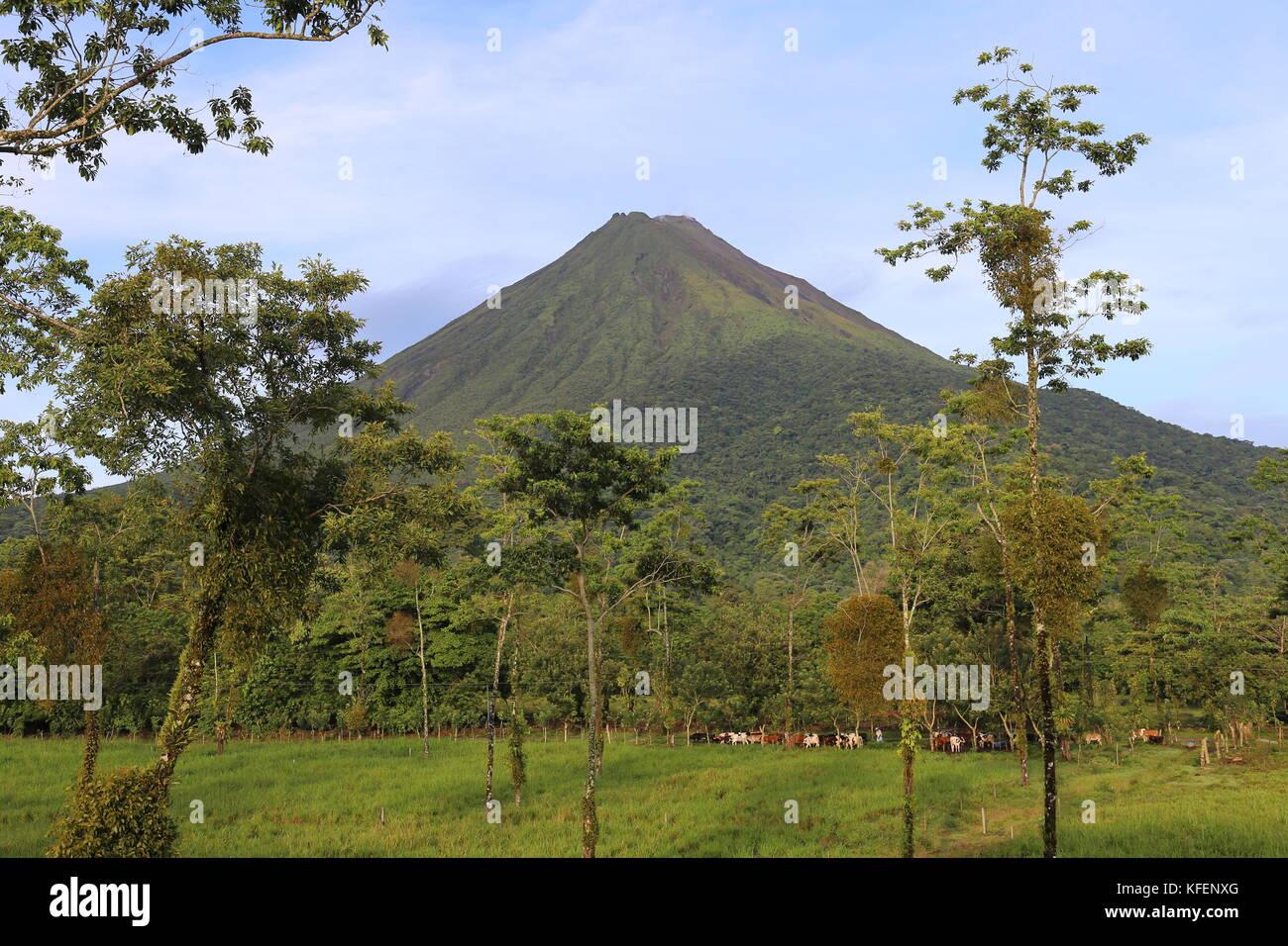 Arenal volcano, La Fortuna, Alajuela province, Costa Rica, Central America - Stock Image