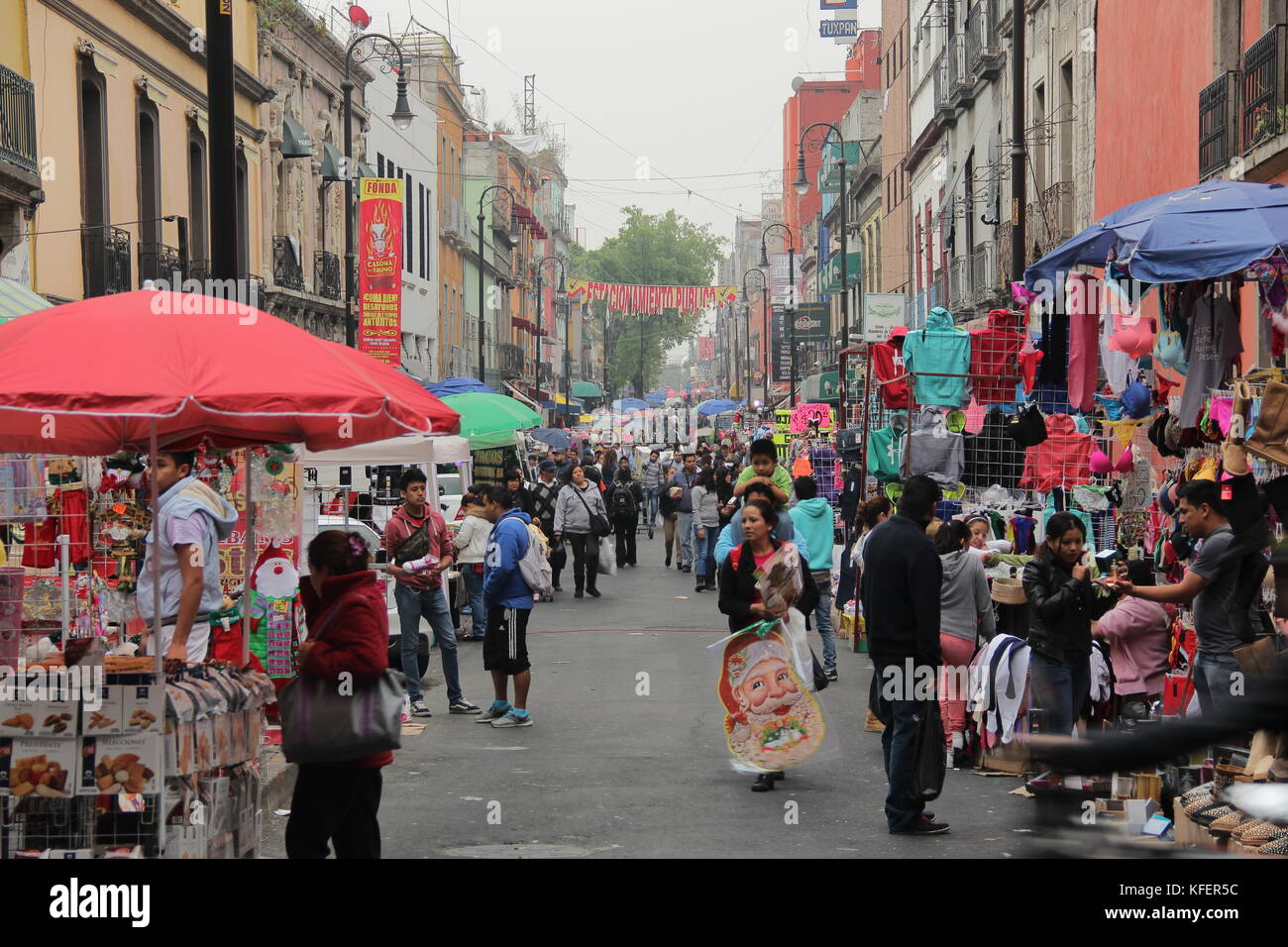Mexican market in CDMX. - Stock Image