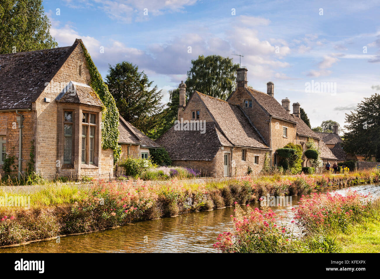 The Cotswolds village of Lower Slaughter, Gloucestershire, England - Stock Image
