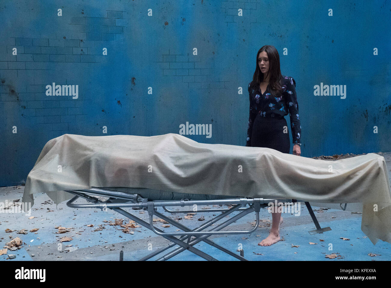 RELEASE DATE: September 29, 2017 TITLE: Flatliners. STUDIO: Columbia Pictures. DIRECTOR: Niels Arden Oplev. PLOT: - Stock Image