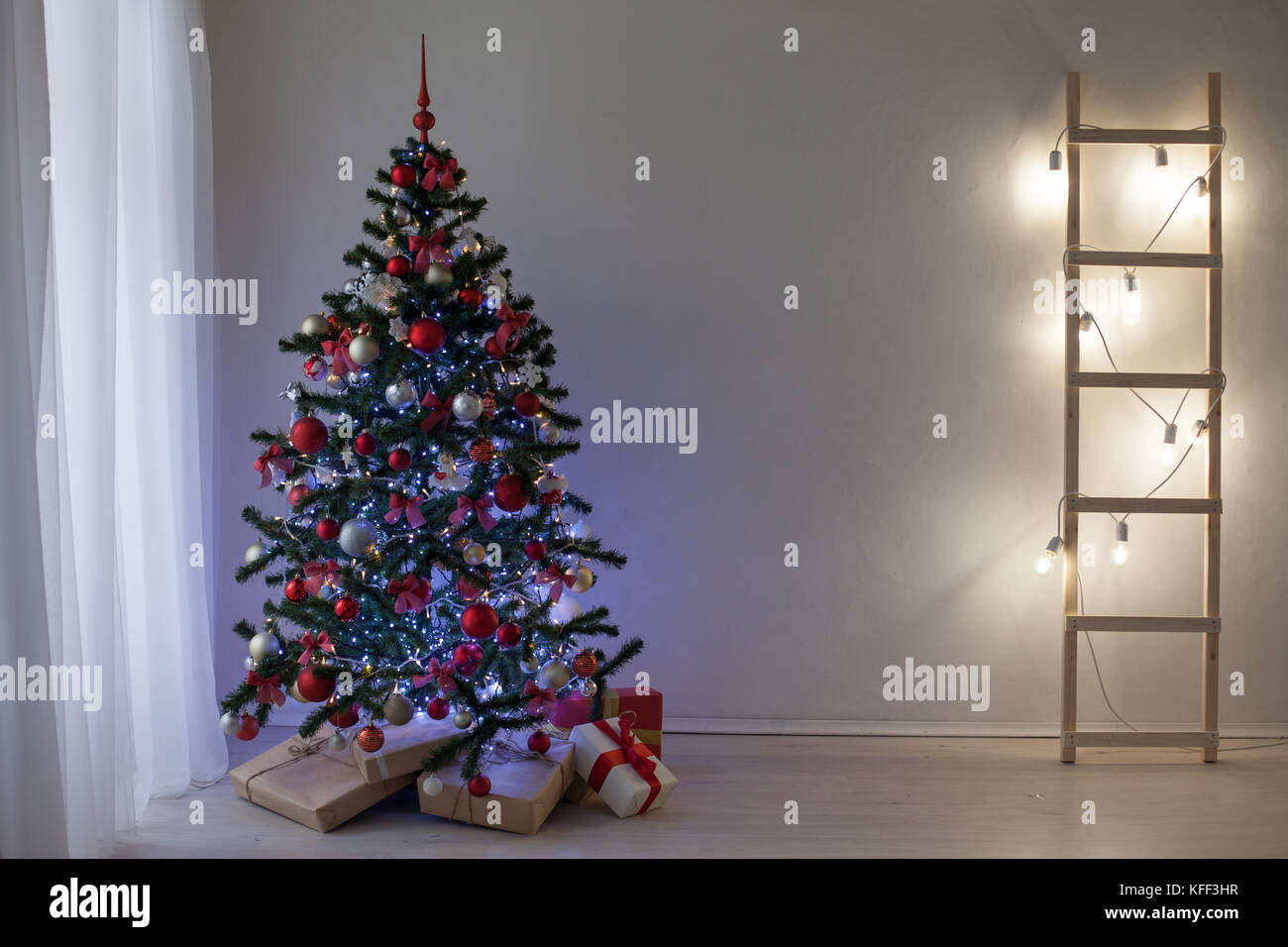 Christmas And New Year 2018 Gifts Tree Decor