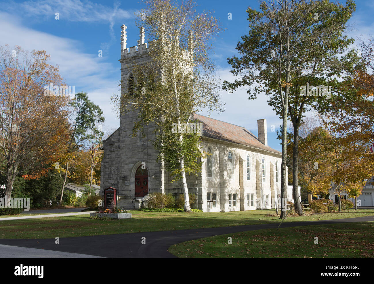 Vermont Church In Fall Stock Photos Amp Vermont Church In