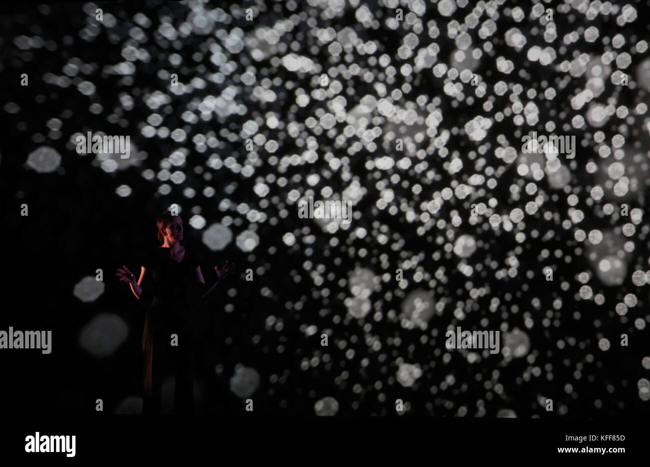 live performance  during sonar barcelona - Stock Image