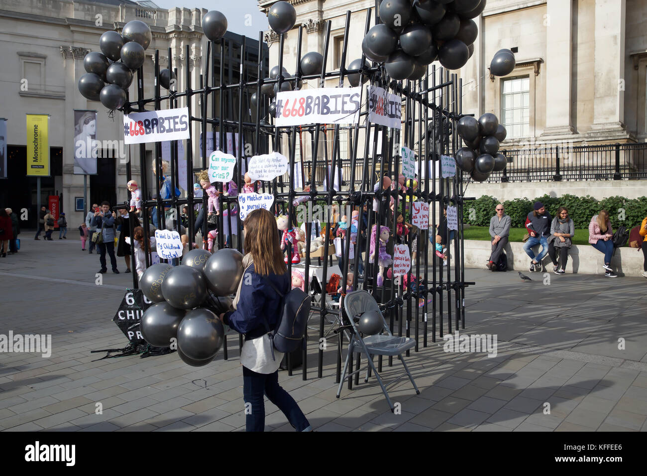 London,UK,28th October 2017,Turkey Purge Demonstration in Trafalgar Square London©Keith Larby/Alamy live News - Stock Image