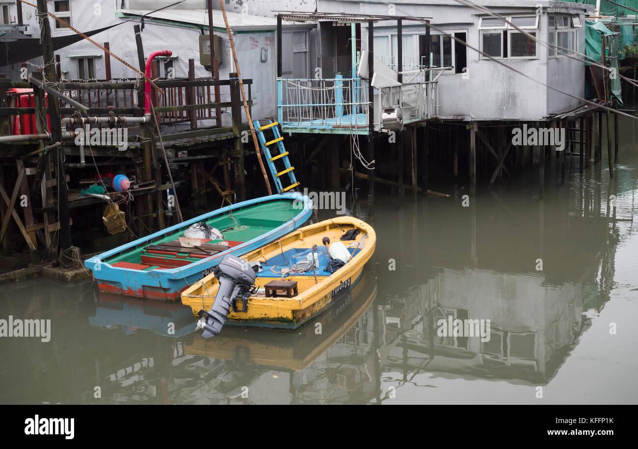 Tai O fishing village, Lantau Island, Hong Kong, China, Asia. - Stock Image
