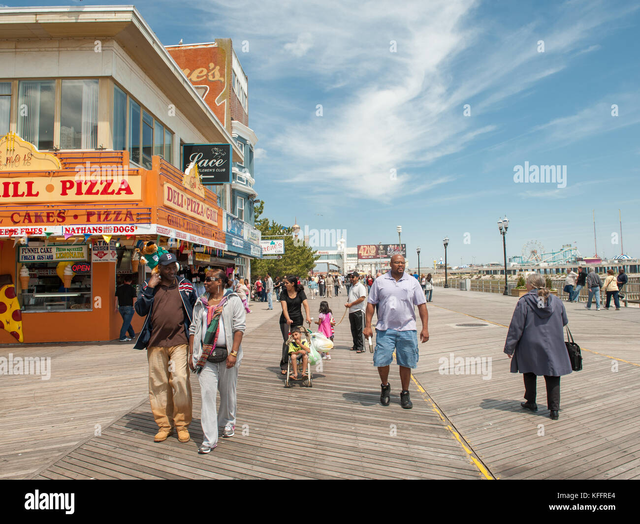 On the Boardwalk in Atlantic City, New Jersey, USA - Stock Image