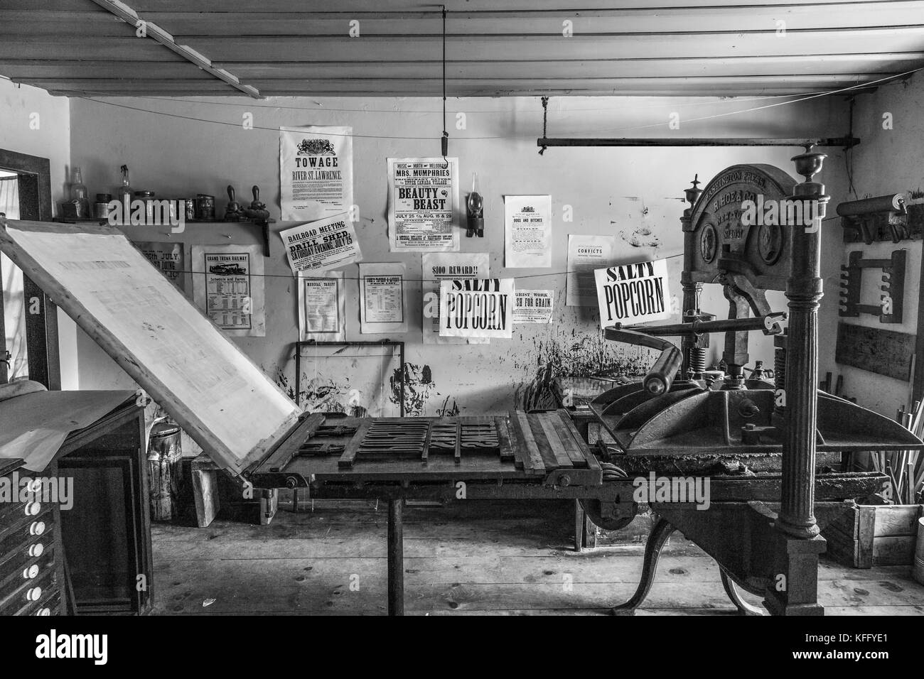 Printing Press Newspaper Black And White Stock Photos Images Alamy Diagram Year 1 2 Context Rotary Image