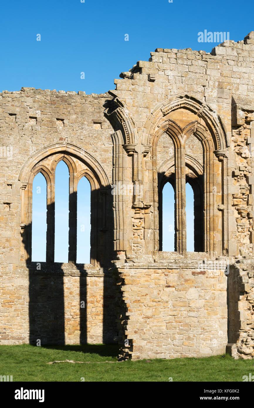 Remains of the church, Egglestone Abbey, Barnard Castle, Co. Durham, England, UK - Stock Image