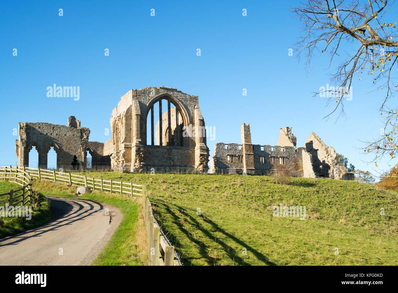 Egglestone Abbey, Barnard Castle, Co. Durham, England, UK - Stock Image