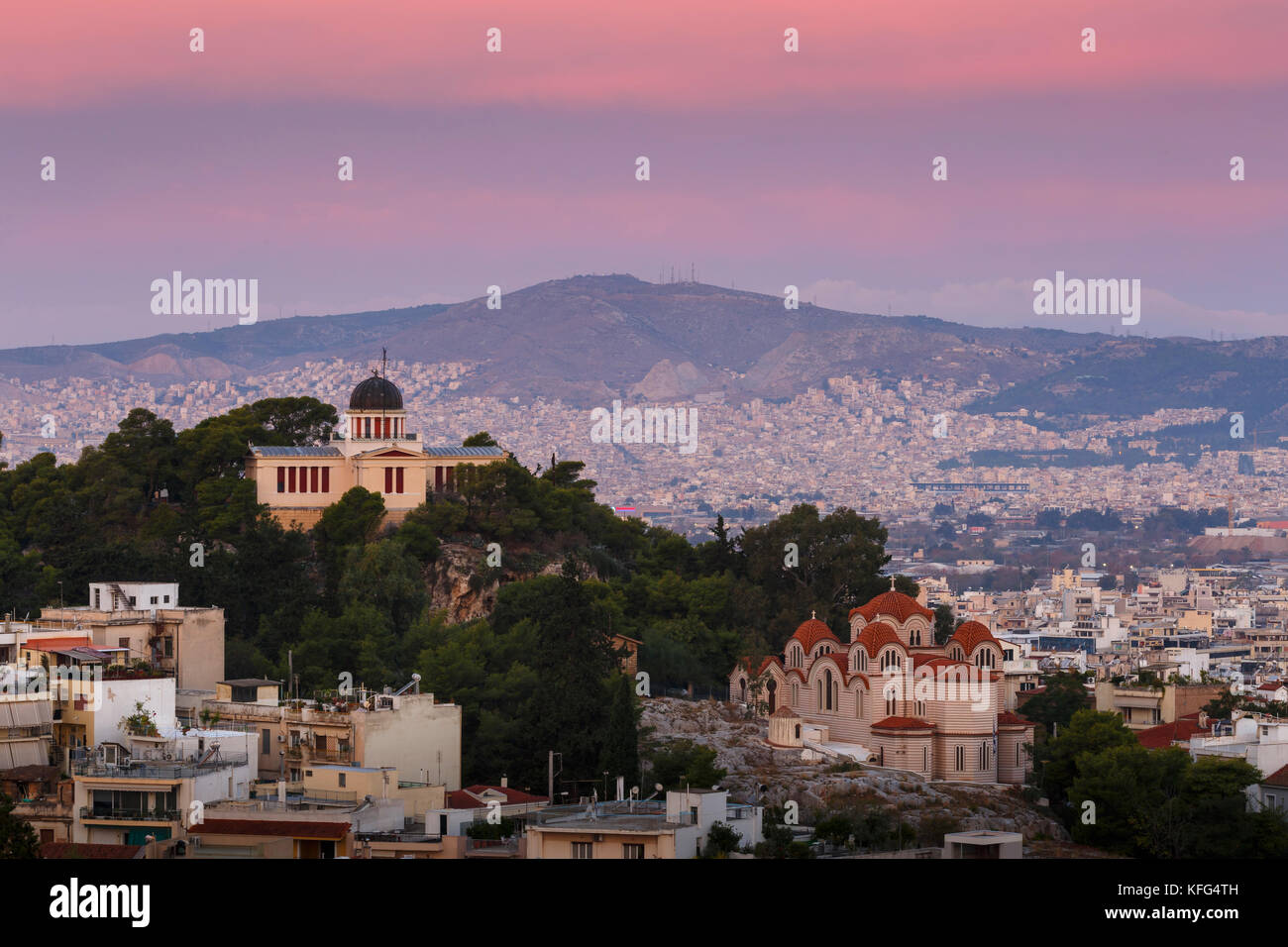 National Observatory in the  city of Athens, Greece. - Stock Image