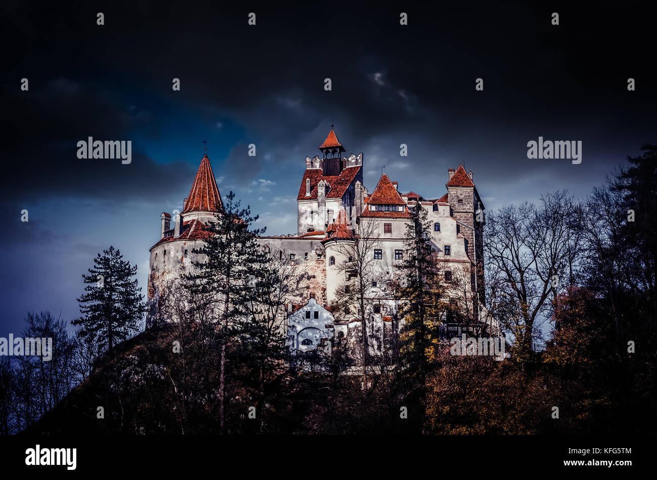 Bran Castle, Transylvania, Romania. A medieval building known as Castle of Dracula. - Stock Image