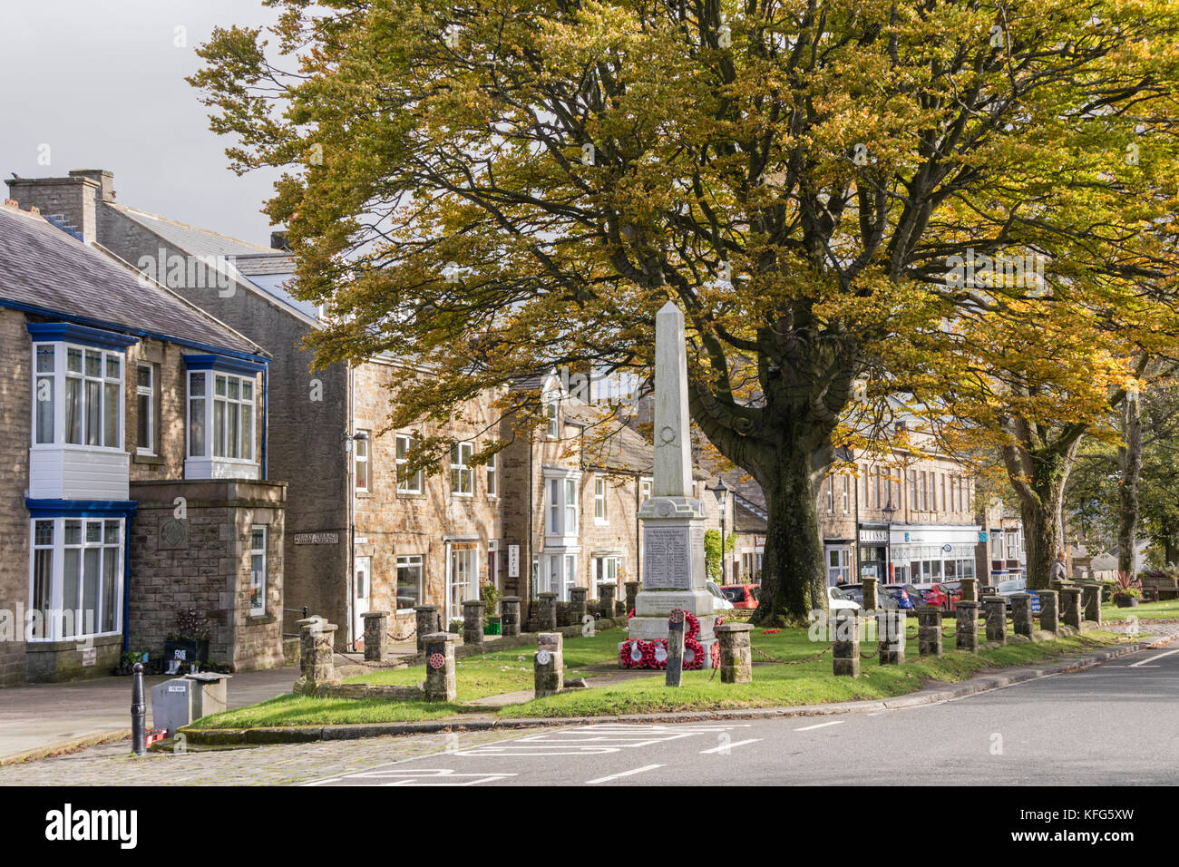 Autumn in Middleton-in-Teesdale, County Durham, England, UK - Stock Image