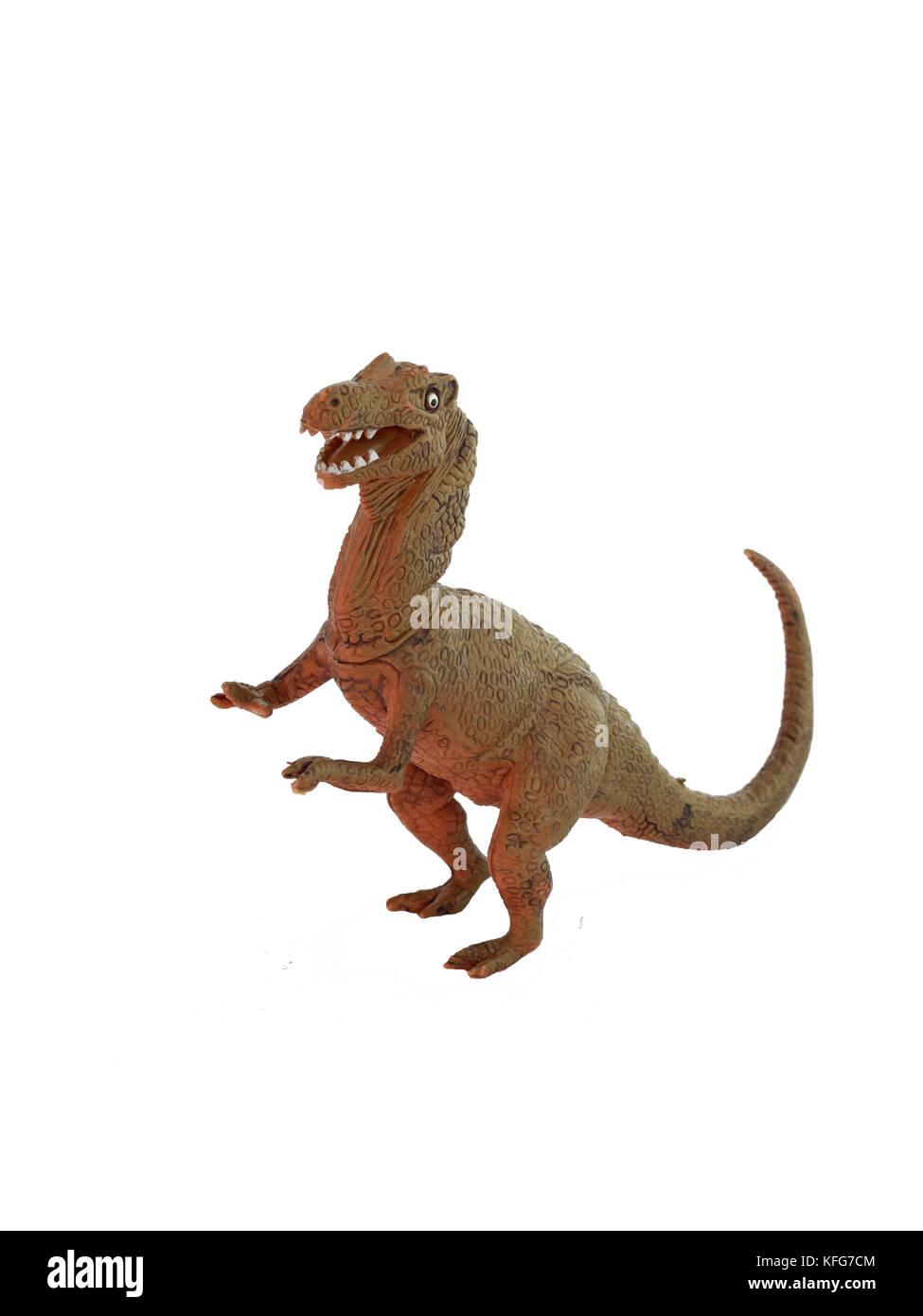 dinosaur on a white background - Stock Image