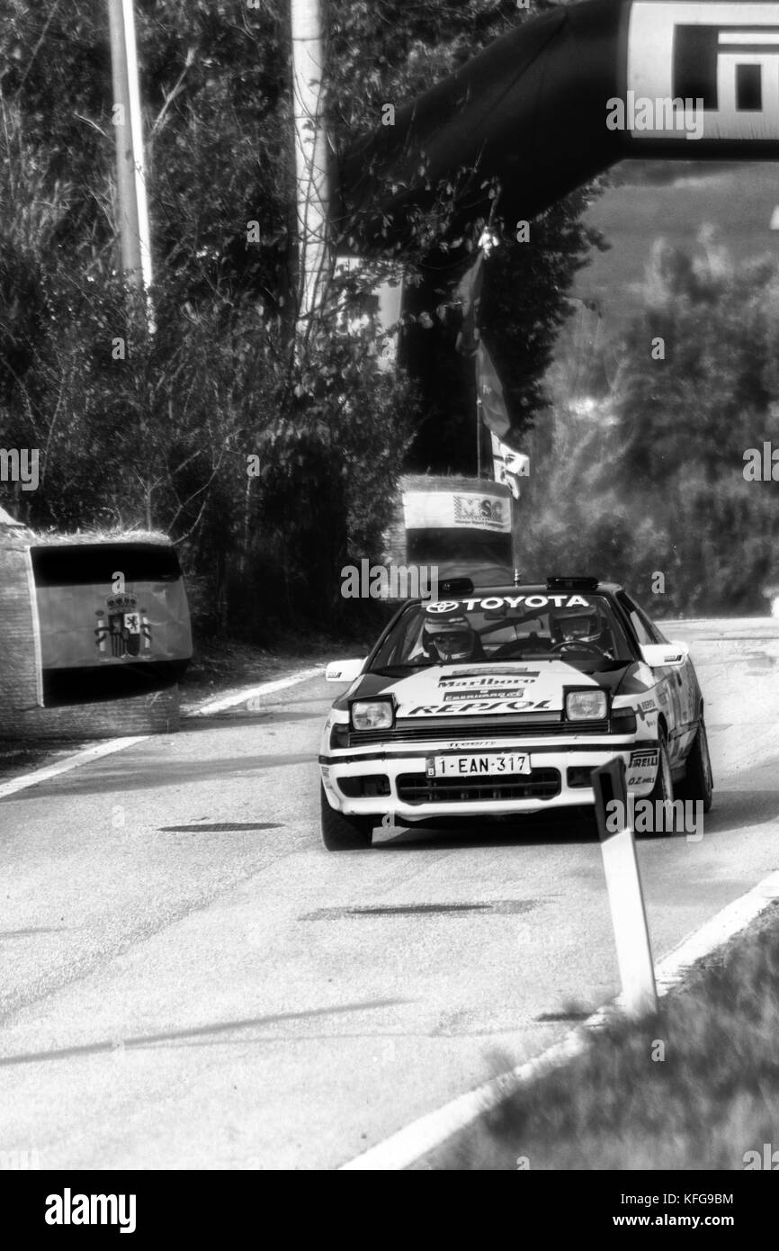 SAN MARINO, SAN MARINO - OTT 21, 2017 : MITSUBISHI LANCER EVO III 1995 old racing car rally THE LEGEND 2017 the - Stock Image