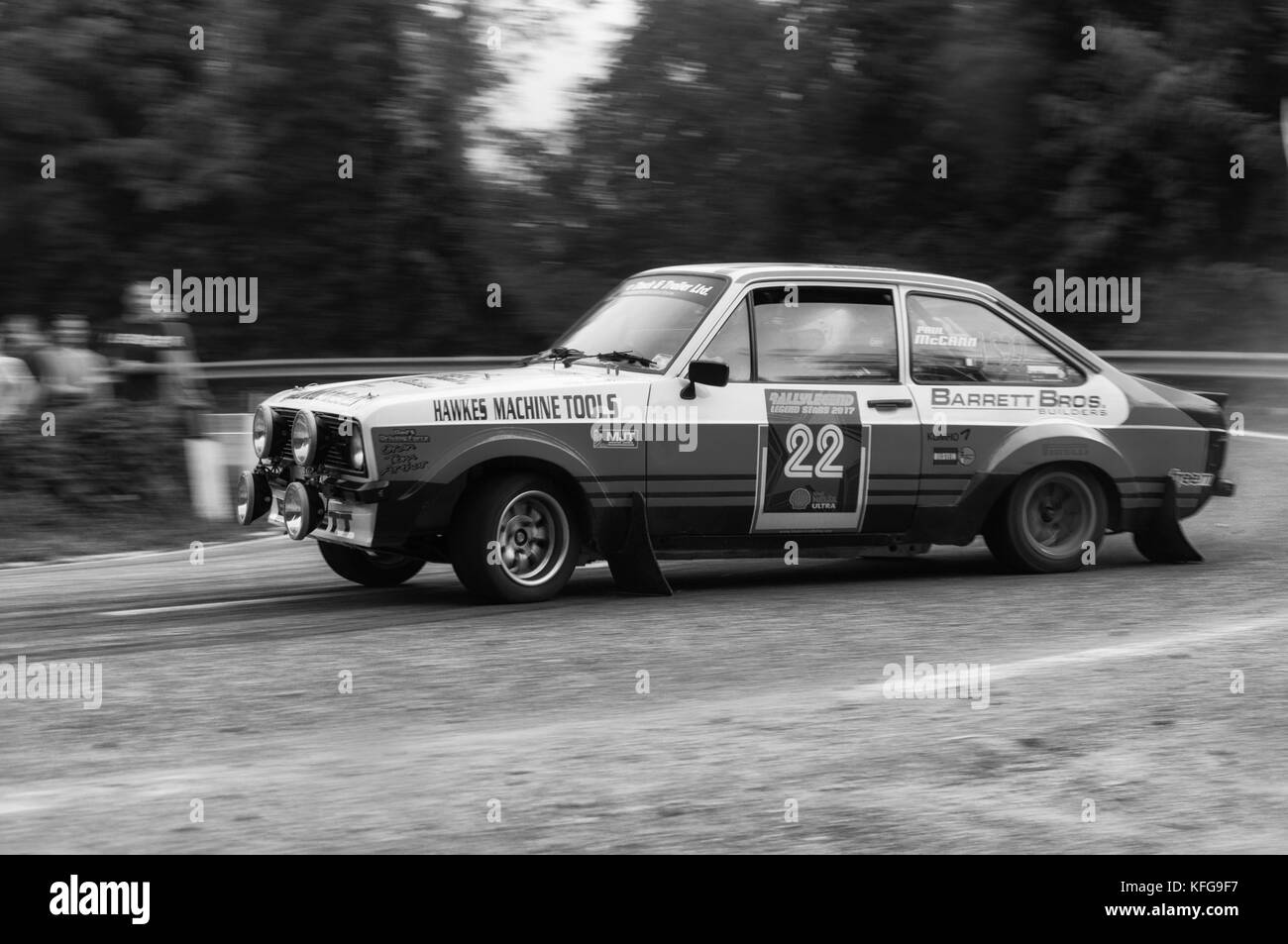 SANMARINO, SANMARINO - OTT 21 : FORD ESCORT RS 1977 old racing car rally THE LEGEND 2017 the famous SAN MARINO historical - Stock Image