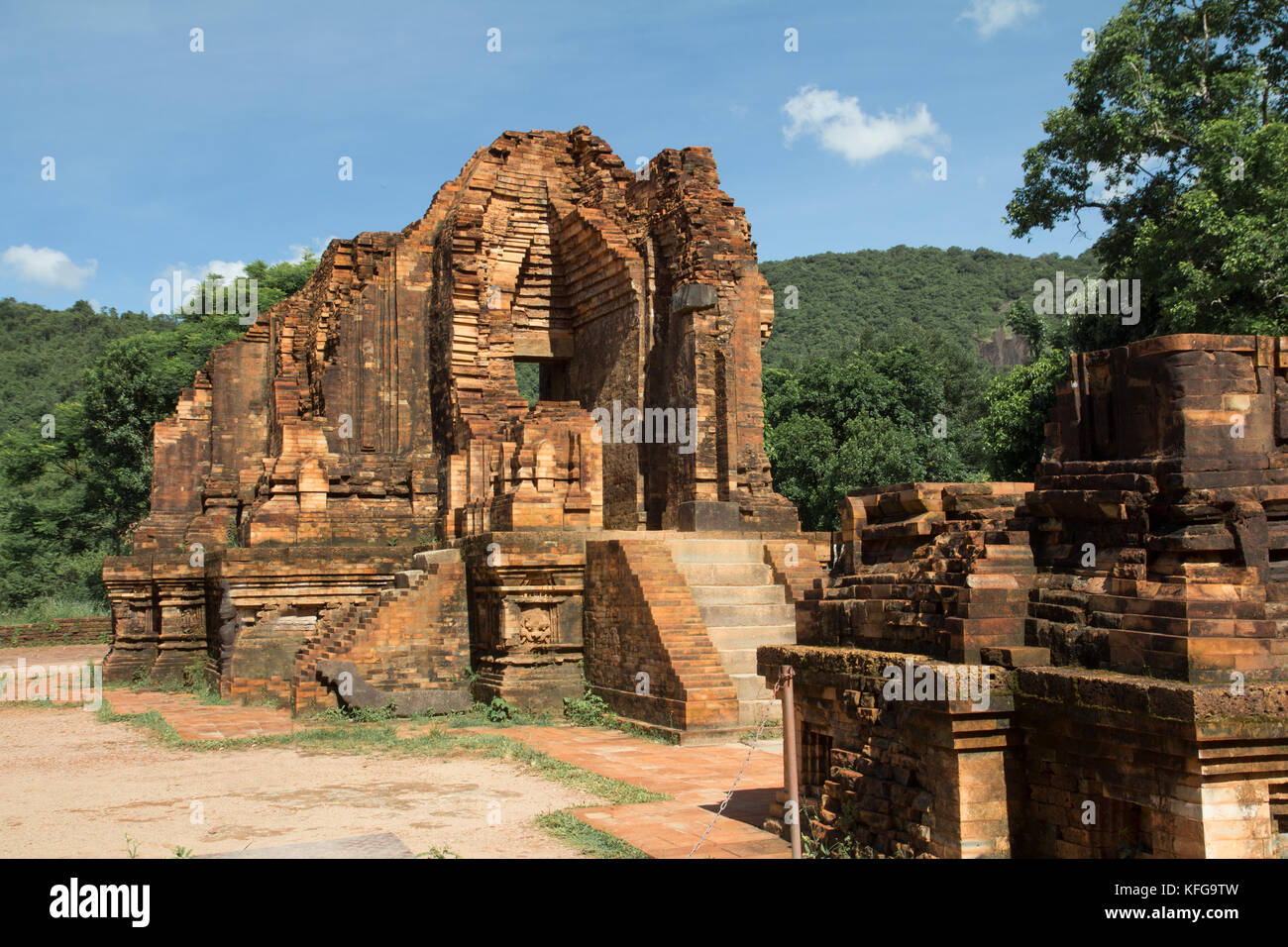 ancient ruins of lost civilization - Stock Image