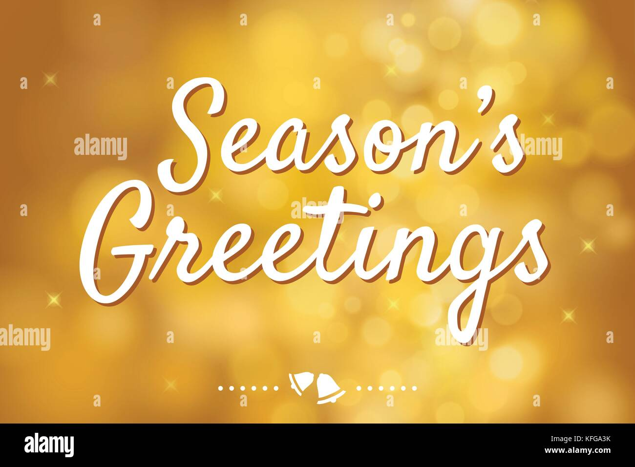 Seasons greetings banner stock photos seasons greetings banner seasons greetings with gold bokeh background for christmas theme stock image m4hsunfo