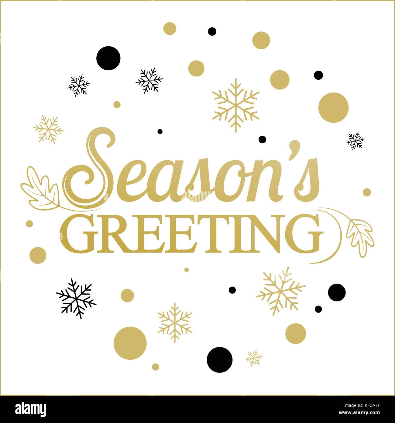 Seasons greetings banner stock photos seasons greetings banner vector gold seasons greetings card designntage card for holidays stock image m4hsunfo