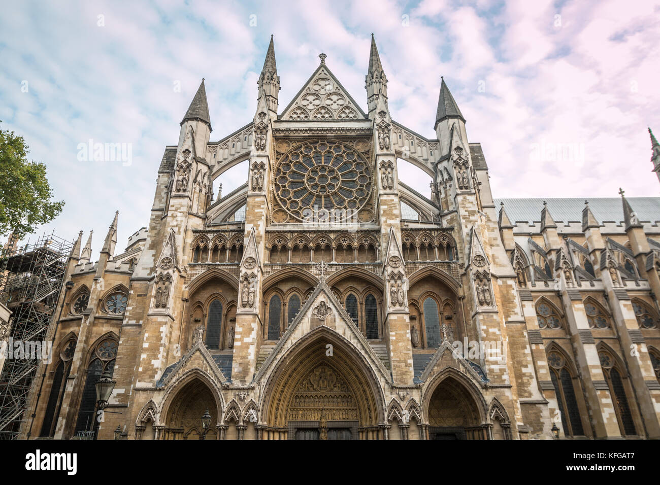 Westminster Abbey in London - Stock Image