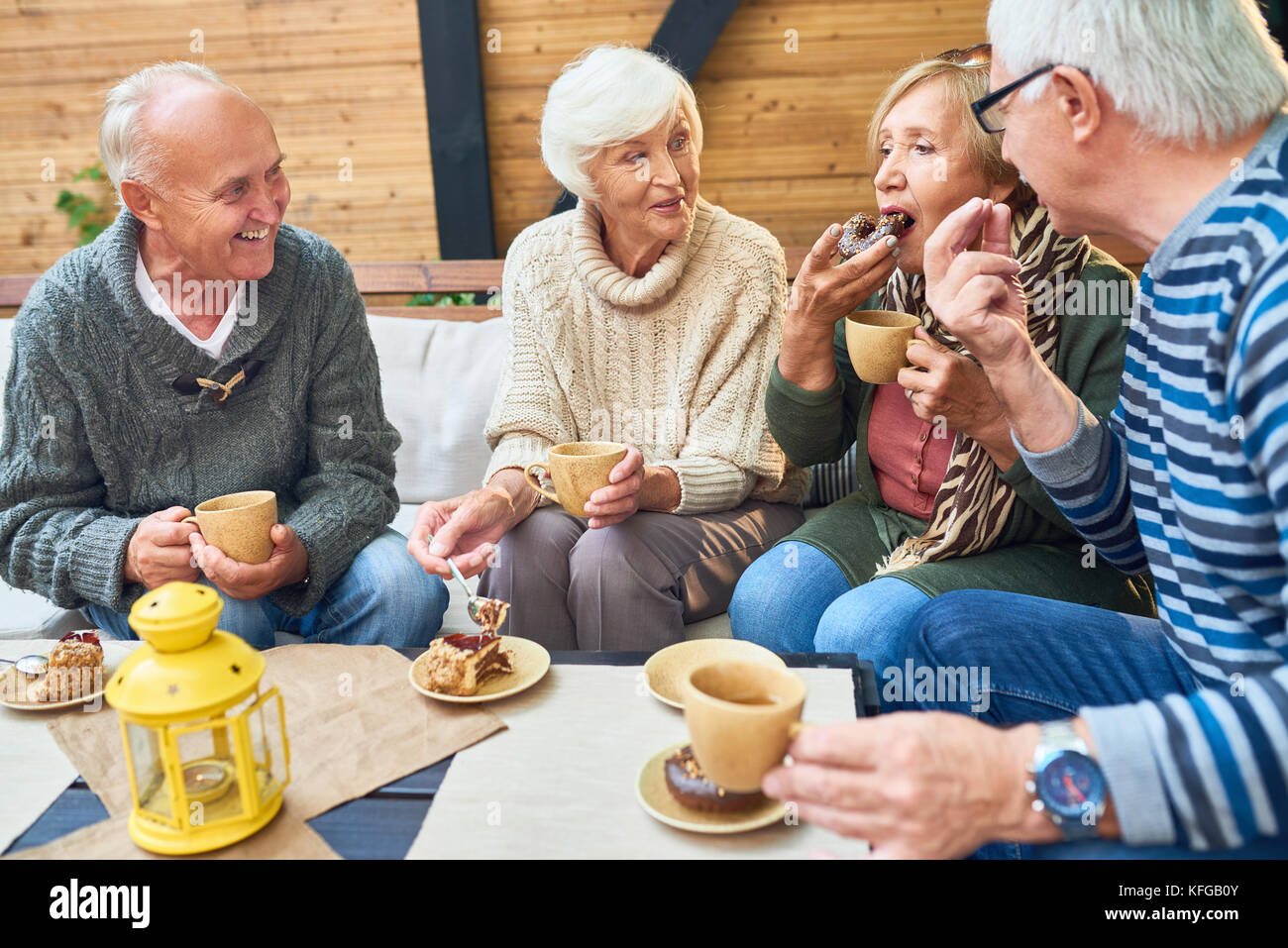 Spending Day with Friends - Stock Image