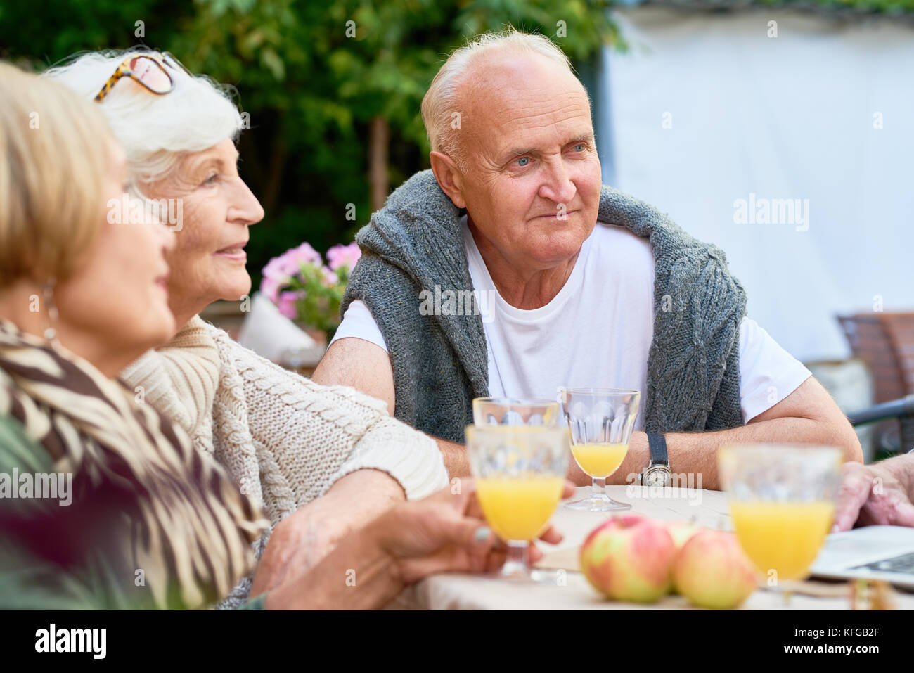 Celebrating Momentous Event with Friends - Stock Image