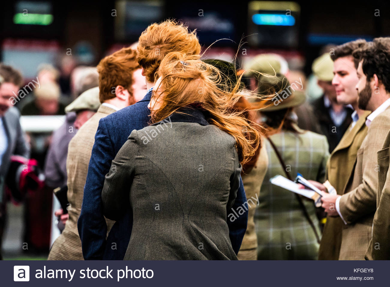 Kelso, Scottish Borders, UK. 28th October 2017. Kelso Racecourse Halloween Meeting. The going was good and a large - Stock Image