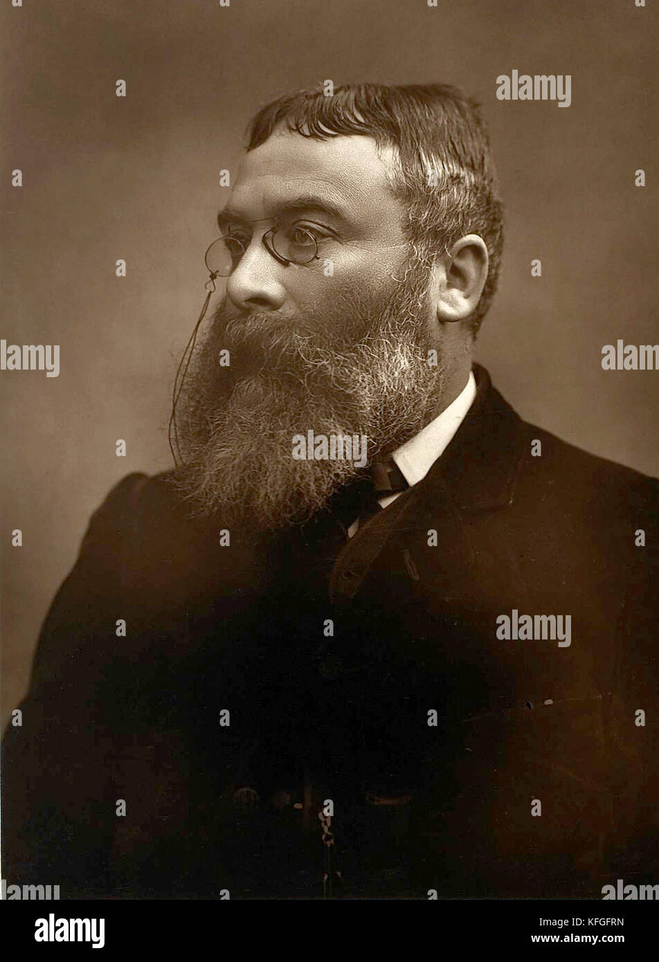 Sir Walter Besant, novelist and historian - Stock Image