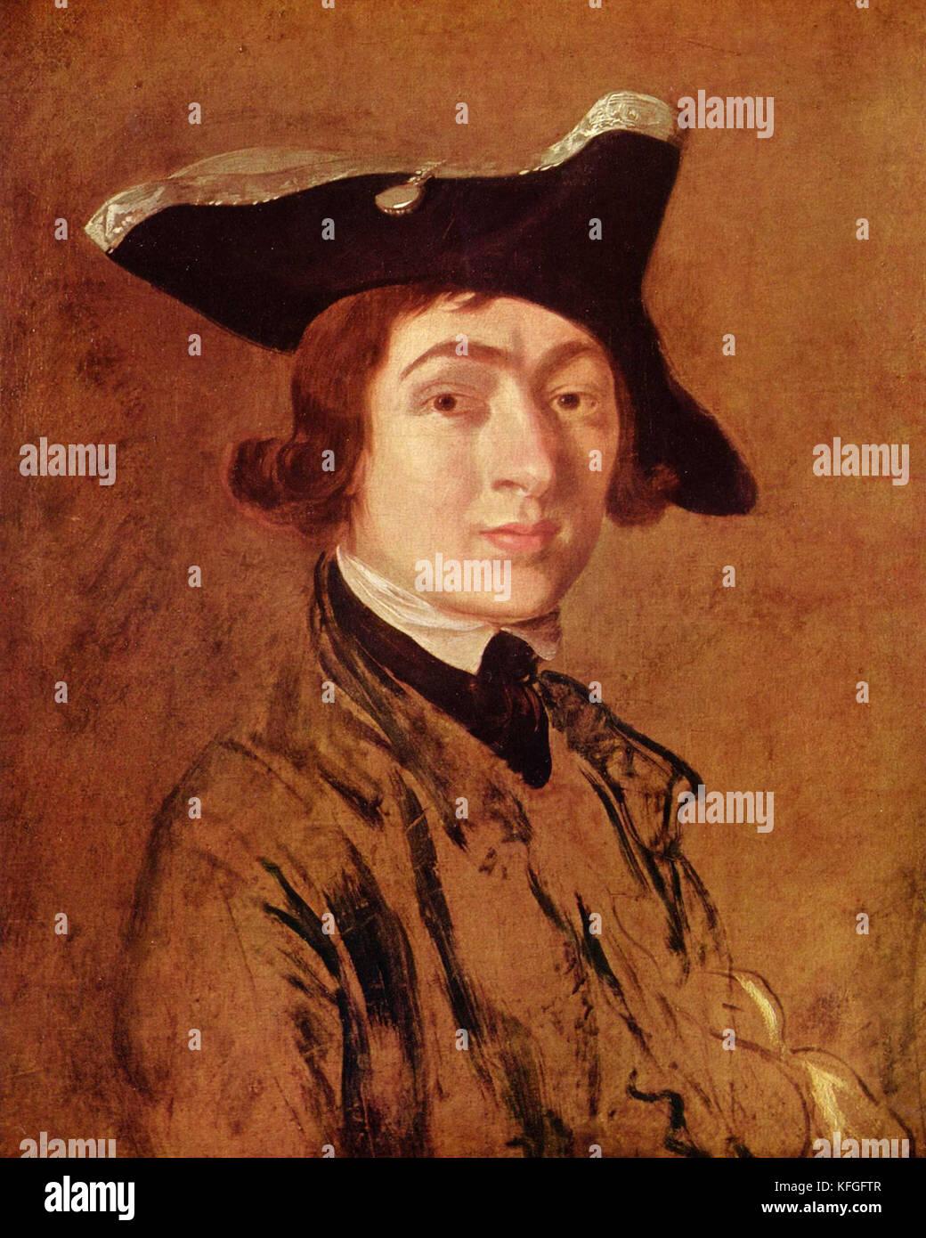 Thomas Gainsborough, Self-Portrait (1754) English portrait and landscape painter - Stock Image