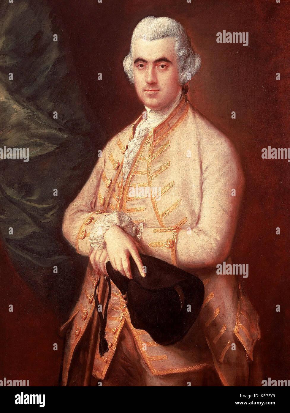 Sir Robert Clayton by Thomas Gainsborough - Stock Image