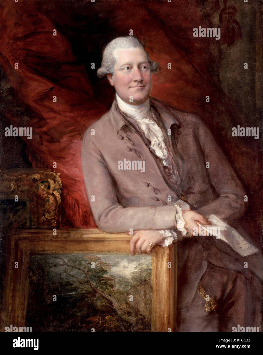 Portrait of James Christie (1778) by Thomas Gainsborough - Stock Image