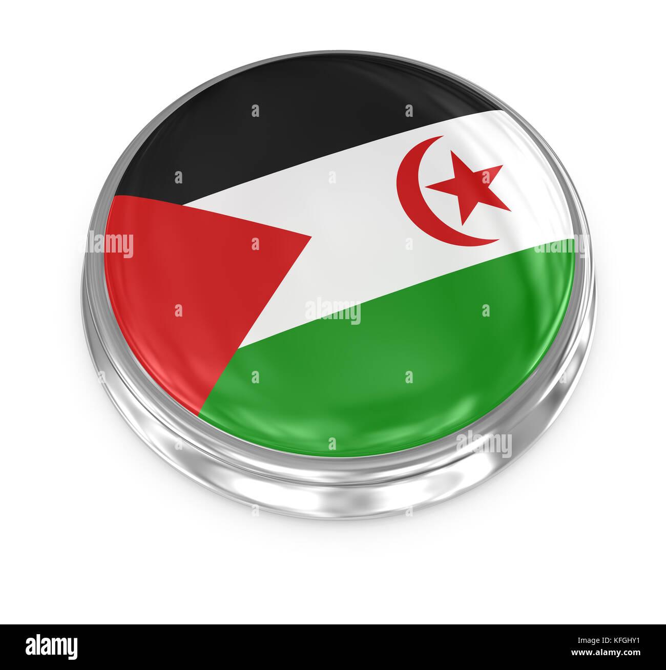 Sahrawi Arab Democratic Republic badge, computer generated image. - Stock Image