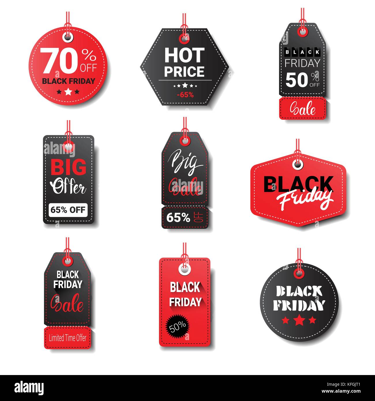 Black Friday Sale Tags Collection Isolated On White Background Logos Stock Vector Image Art Alamy