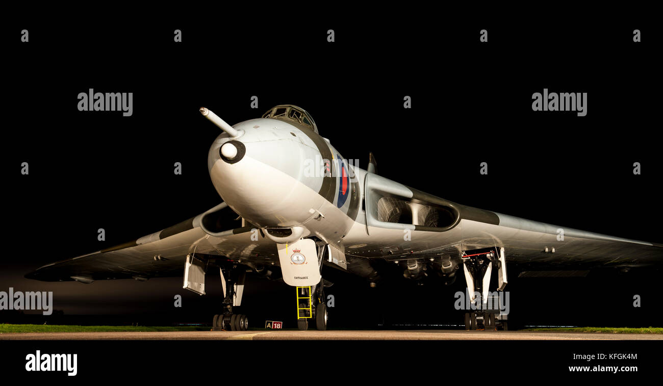 Avro Vulcan B2, on the taxiway at Weelesbourne Airfield, Warwickshire, England. - Stock Image