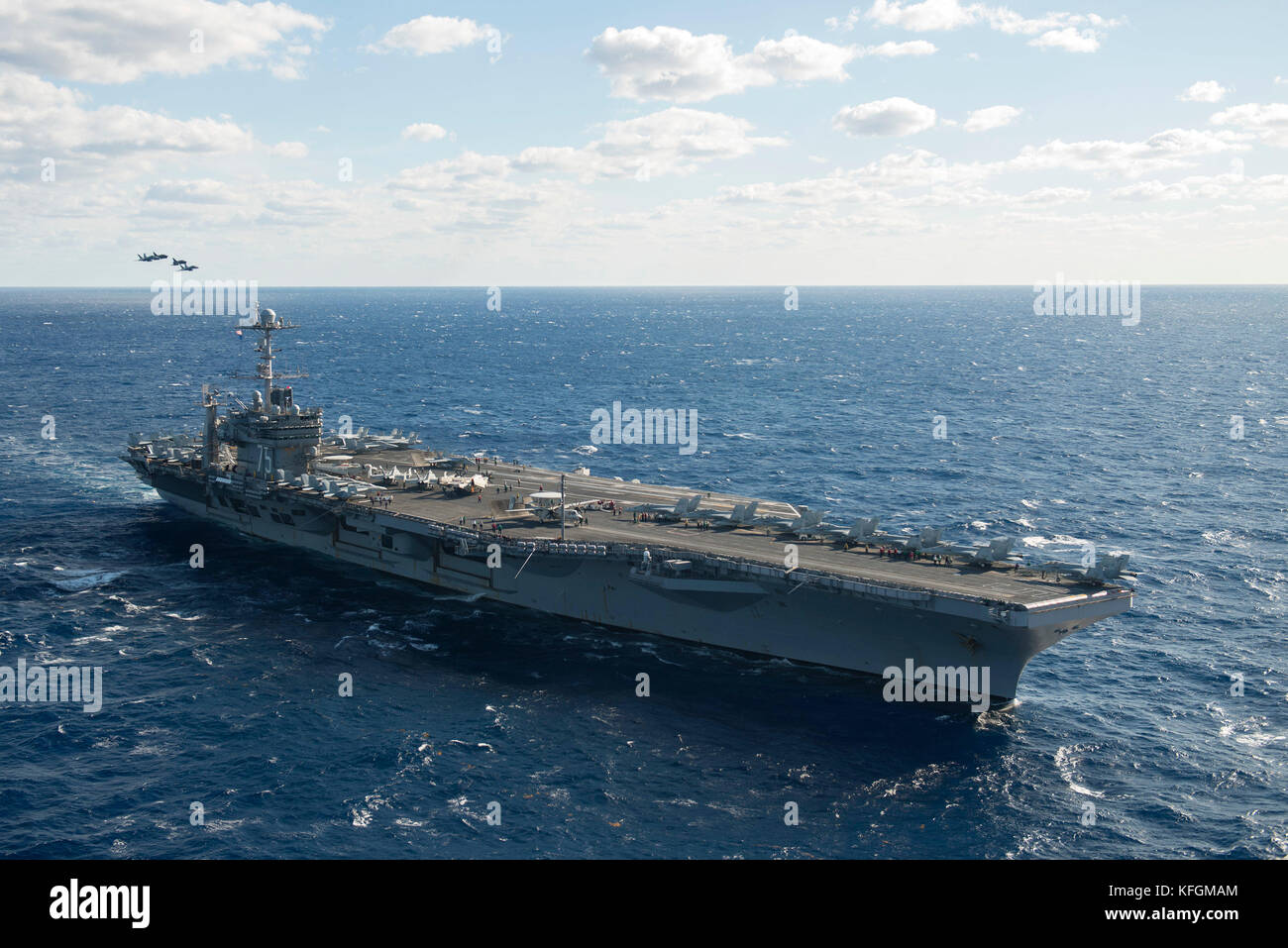 Aircraft Carrier - Stock Image