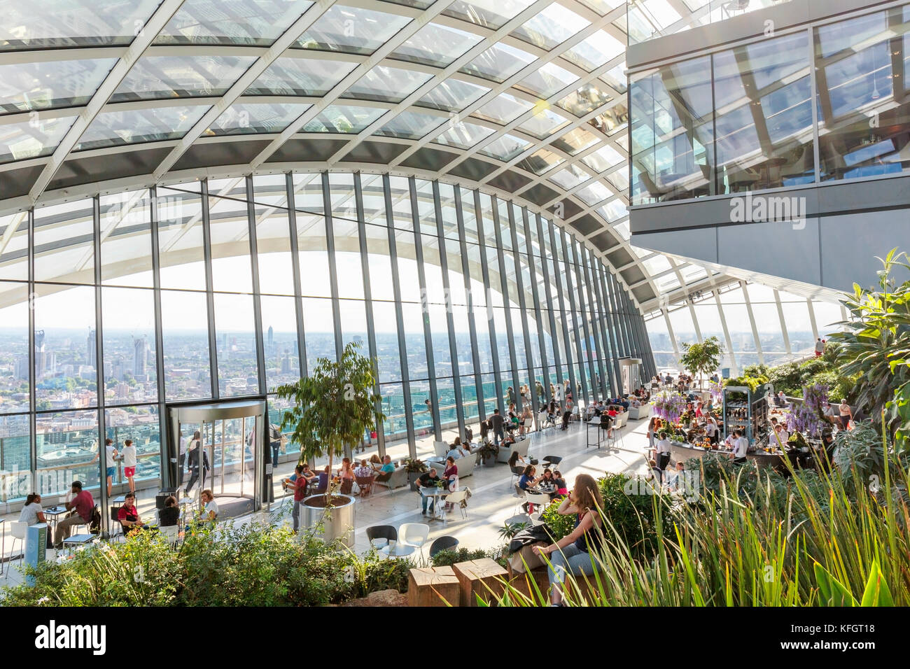 Sky Garden at 20 Fenchurch Street in London - Stock Image