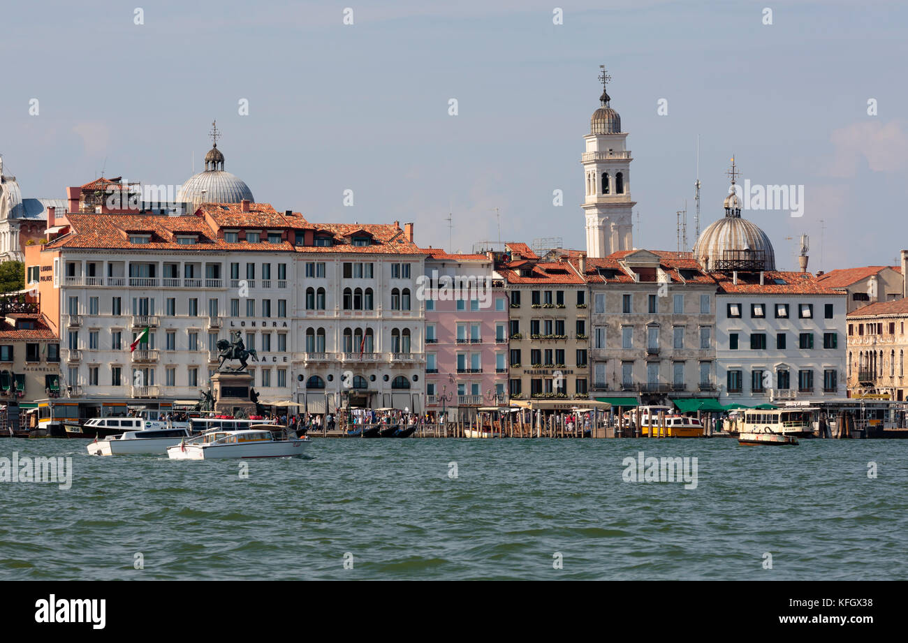 Waterfront, Bacino San Marco, Venice, Italy - Stock Image