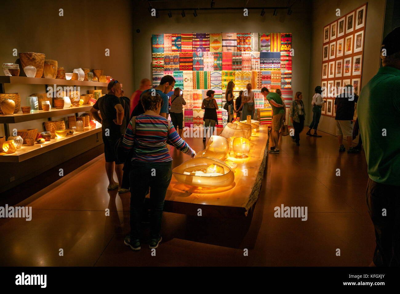 WA14106-00...WASHINGTON - Inside Chihuly Garden And Glass building. - Stock Image