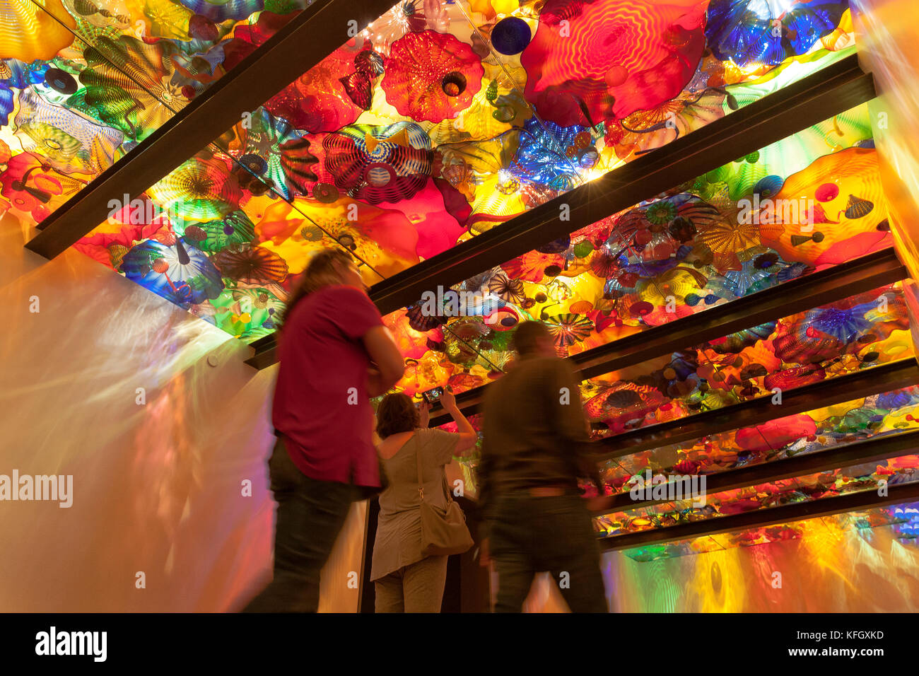 WA14109-00...WASHINGTON - Ceiling inside Chihuly Garden And Glass building. - Stock Image